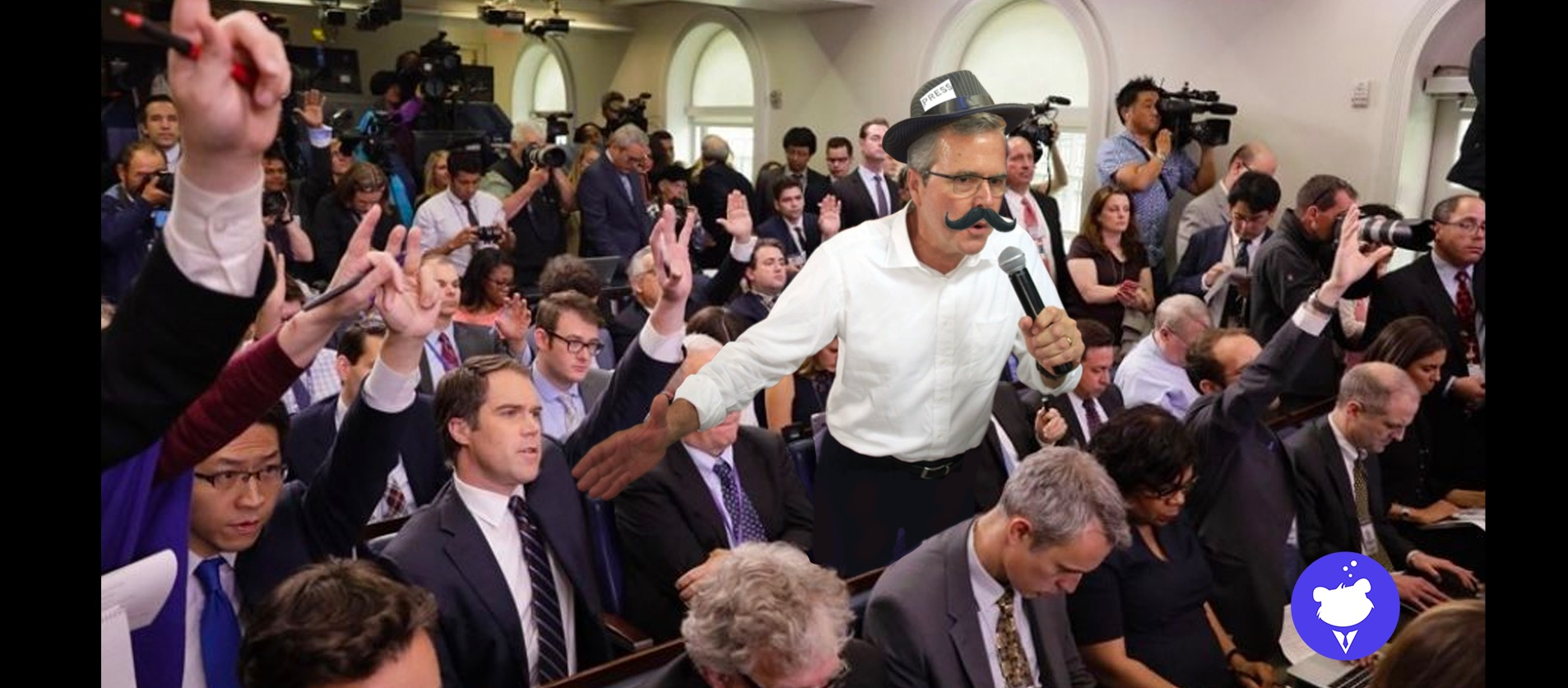 'This wouldn't have happened if Jeb Bush were in charge!' yells man at WH briefing looking oddly like Jeb Bush
